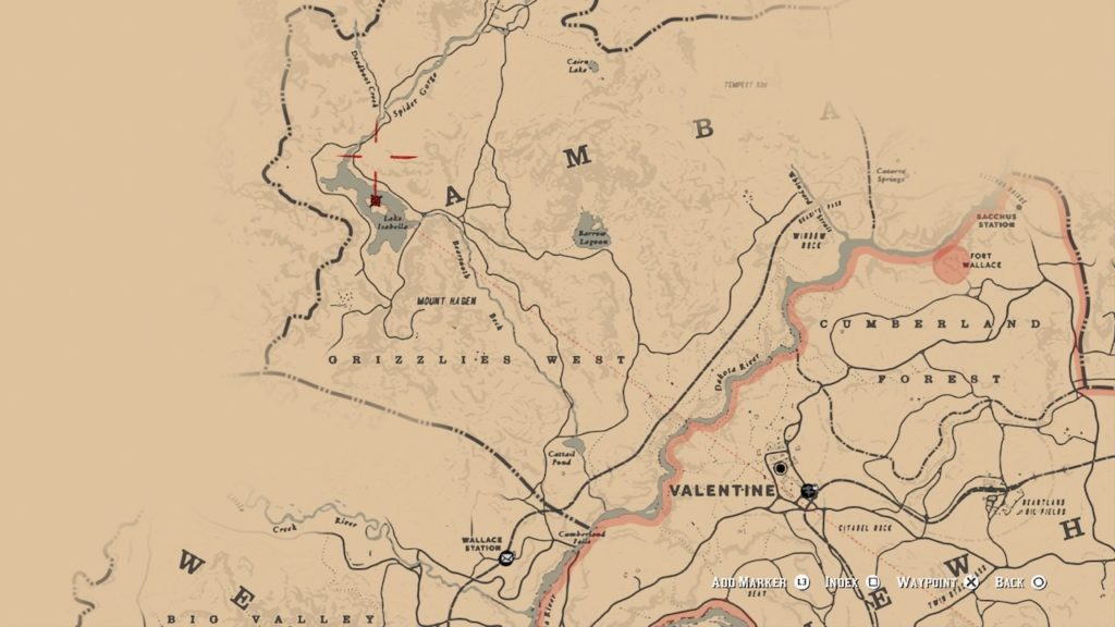 red dead redemption 2 map lake isabella