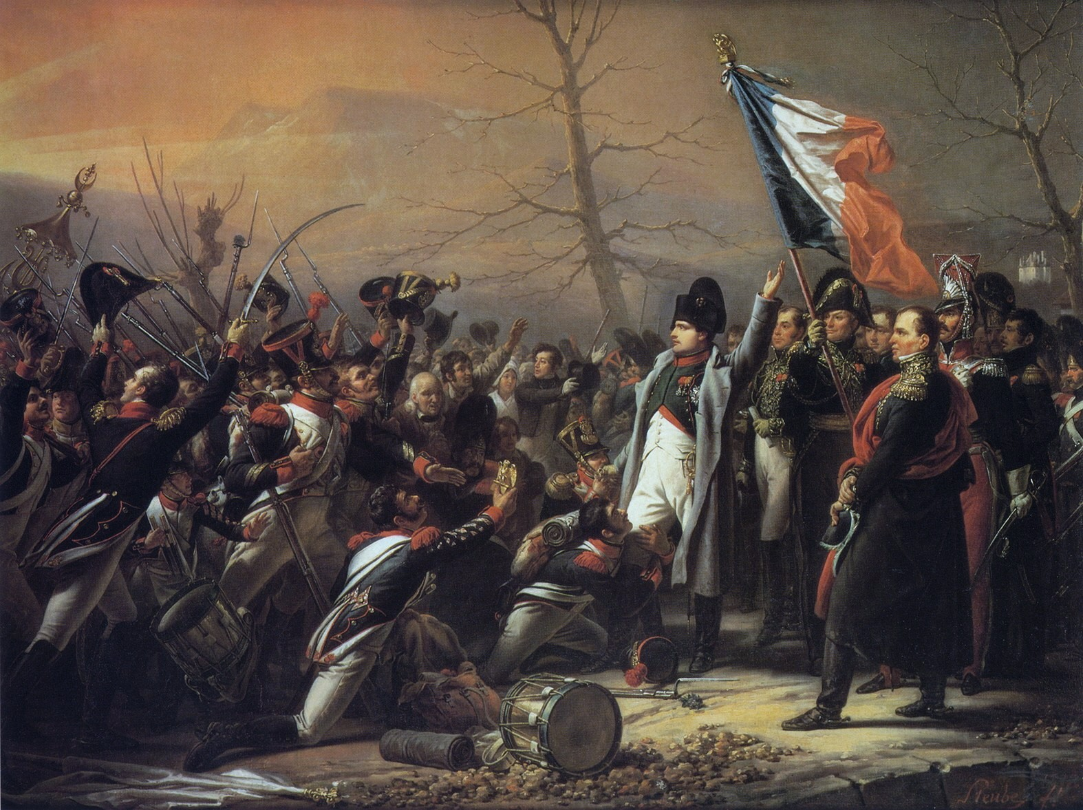 Bonaparte controlled that chaos very well