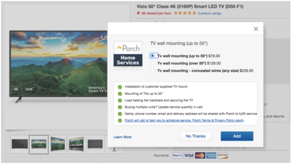 eBay adds installation services to big purchases