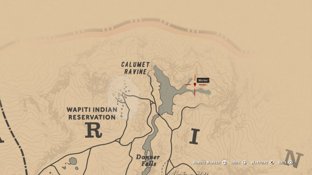 red dead redemption 2 ancient tomahawk map