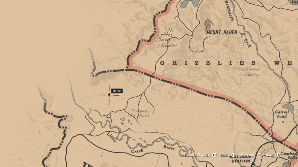 red dead redemption 2 antler knife map
