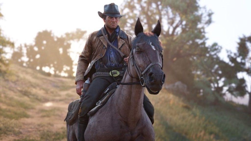 red dead redemption 2 arthur horseback