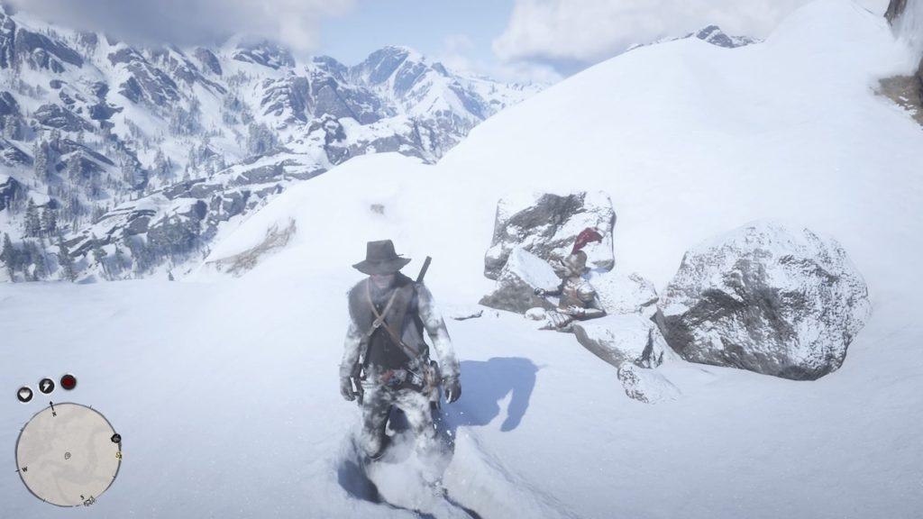 red dead redemption 2 frozen corpse