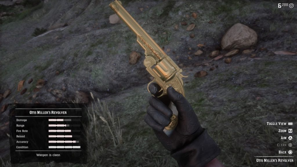 red dead redemption 2 otis miller revolver