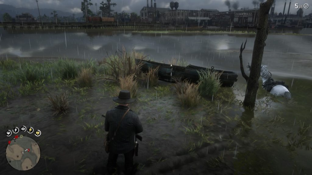 red dead redemption 2 wrecked rowboat
