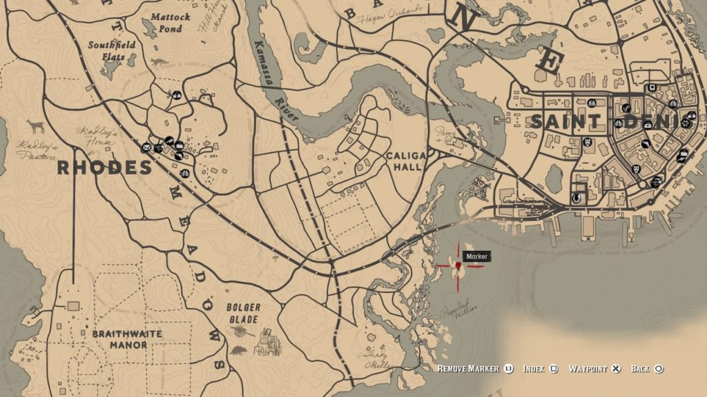 red dead redemption 2 pirate sword map