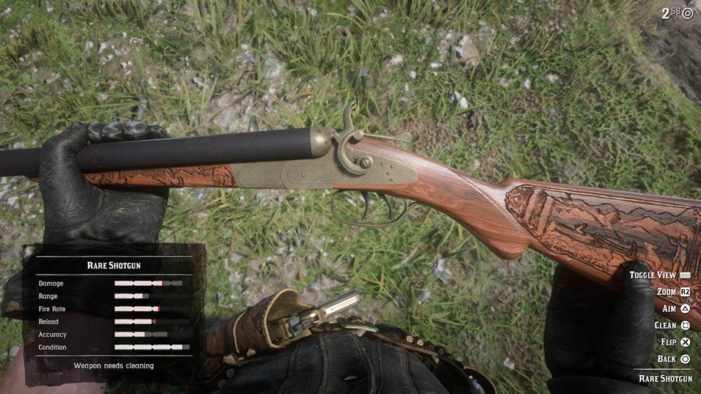 red dead redemption 2 rare shotgun