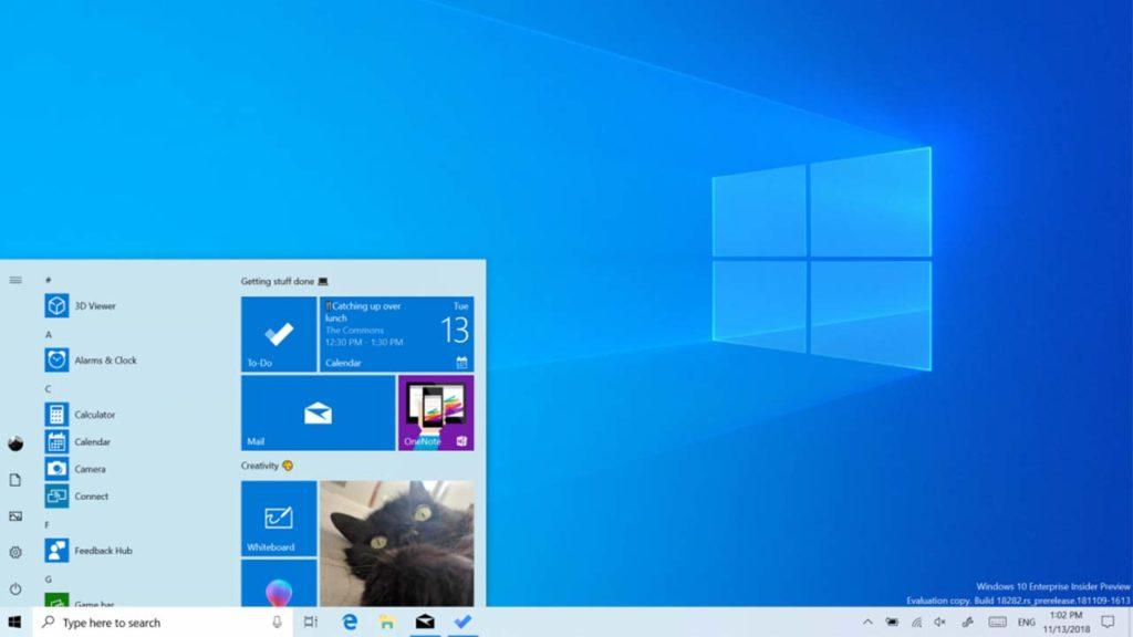 New Light Mode for Windows 10