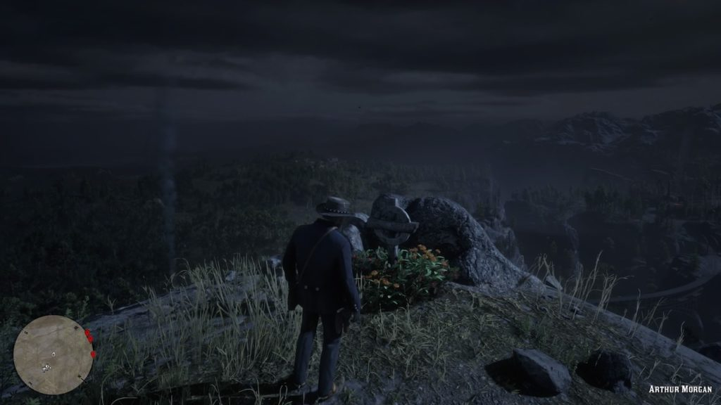 red dead redemption 2 arthur grave