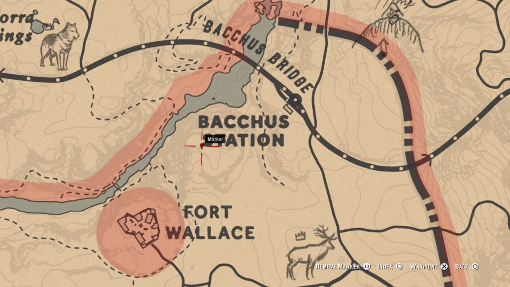 red dead 2 bacchus station bone map
