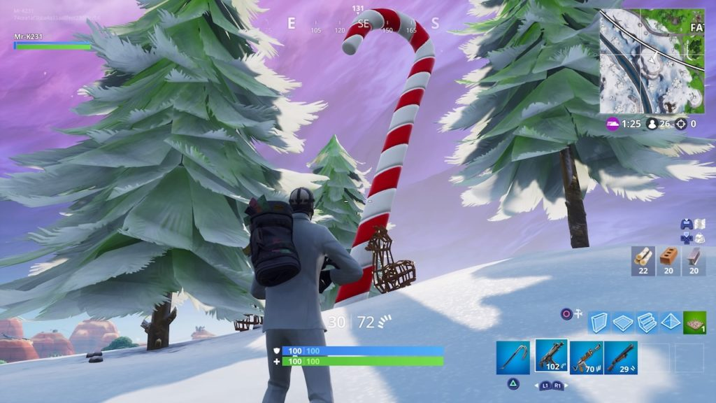 Fortnite All 4 Candy Cane Locations