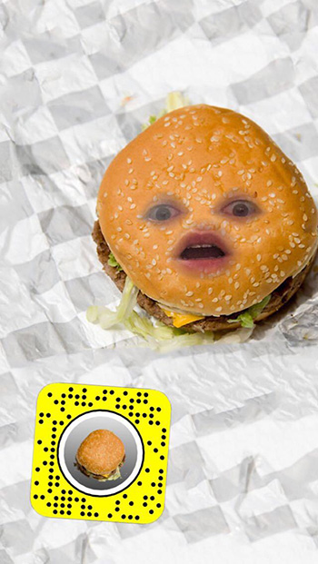 burger face lens