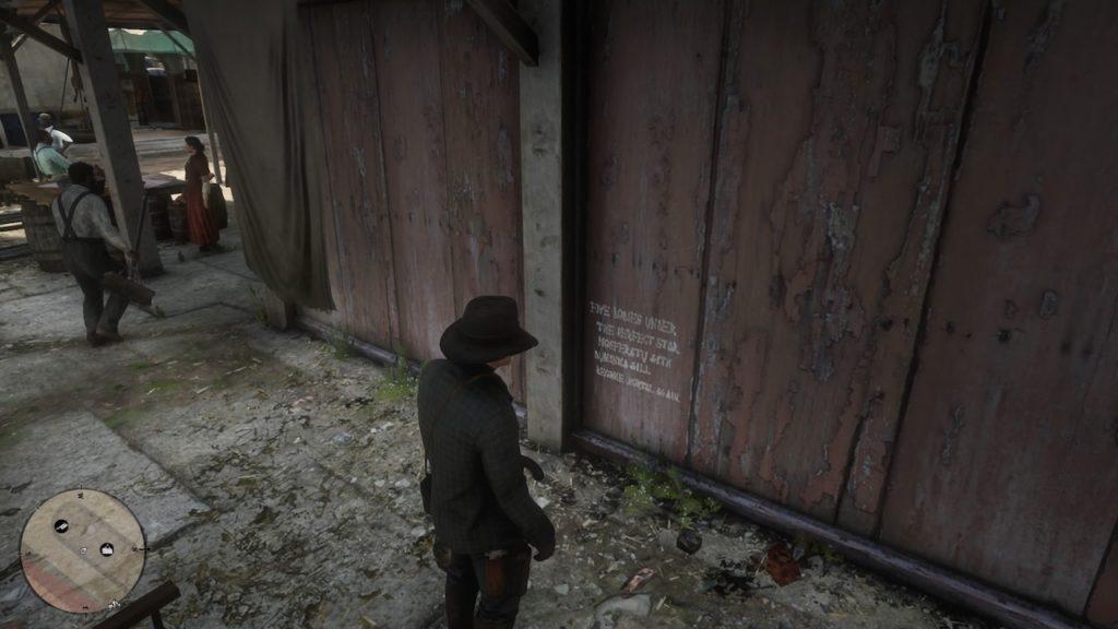 red dead 2 butcher graffiti
