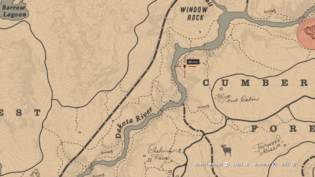 red dead 2 cumberland forest carving map