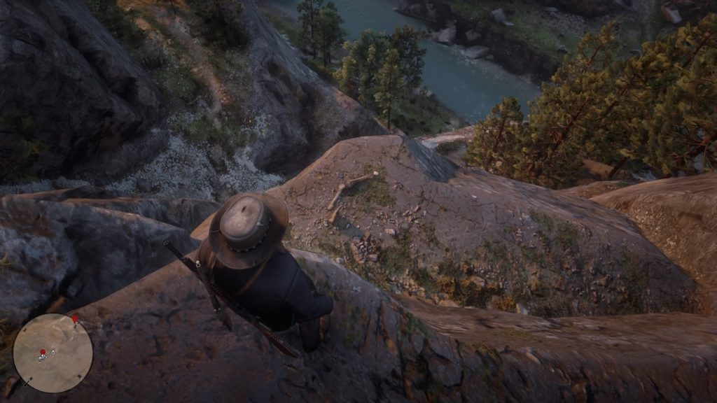 red dead 2 dakota river cliff bone