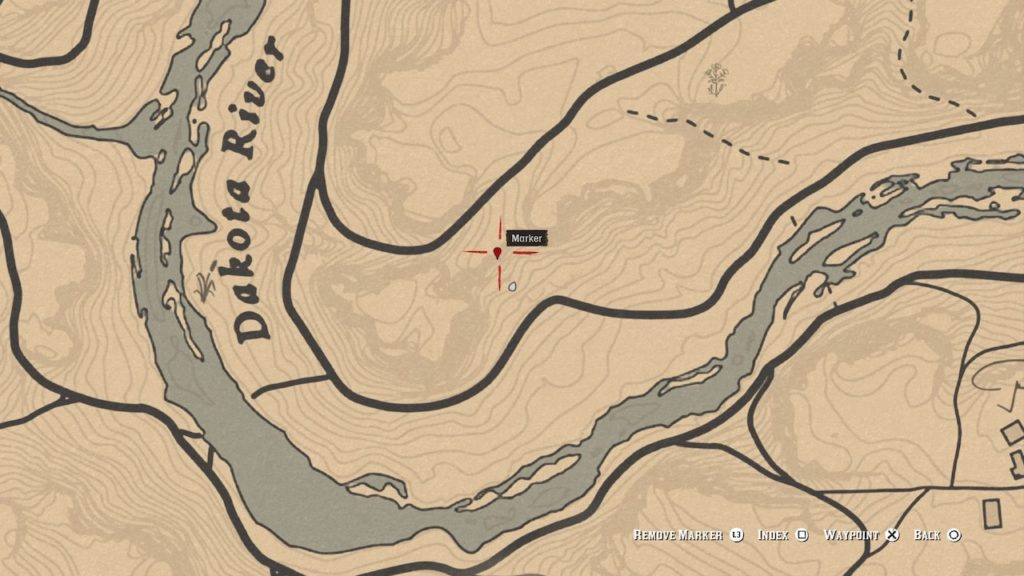 red dead 2 cumberland forest south bone map
