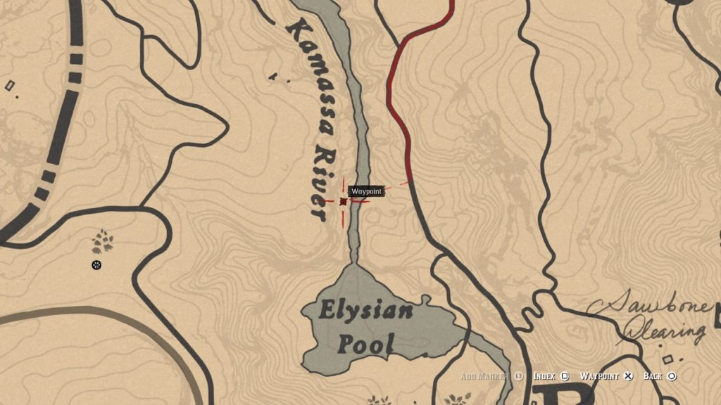 red dead 2 elysian pool bone map