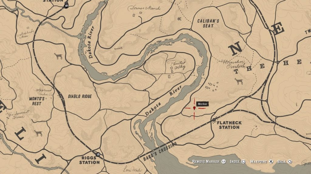 red dead 2 flatneck station carving map