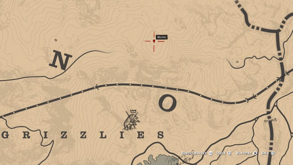 red dead 2 grizzlies north map
