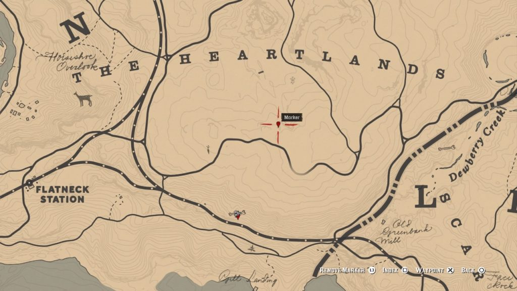 red dead 2 heartlands gorge bone map
