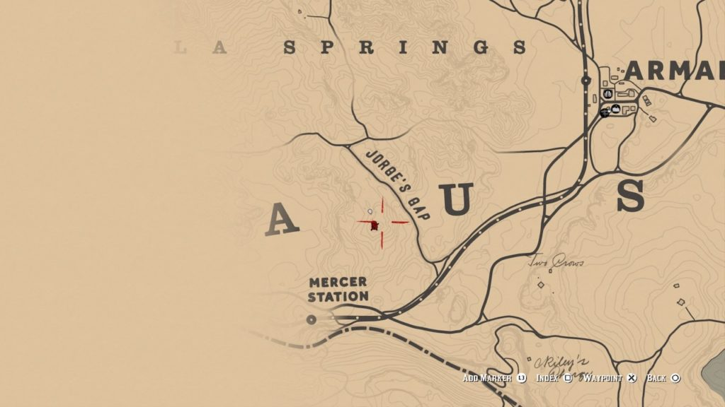red dead 2 jorge's gap bone map