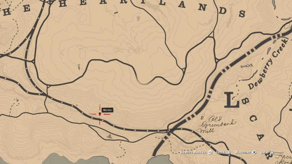 red dead 2 heartlands hill bone map