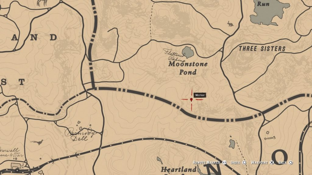 red dead 2 moonstone pond carving map