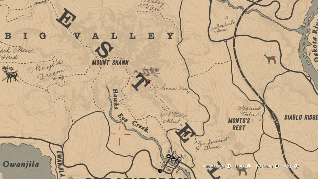 red dead 2 mt shann carving map