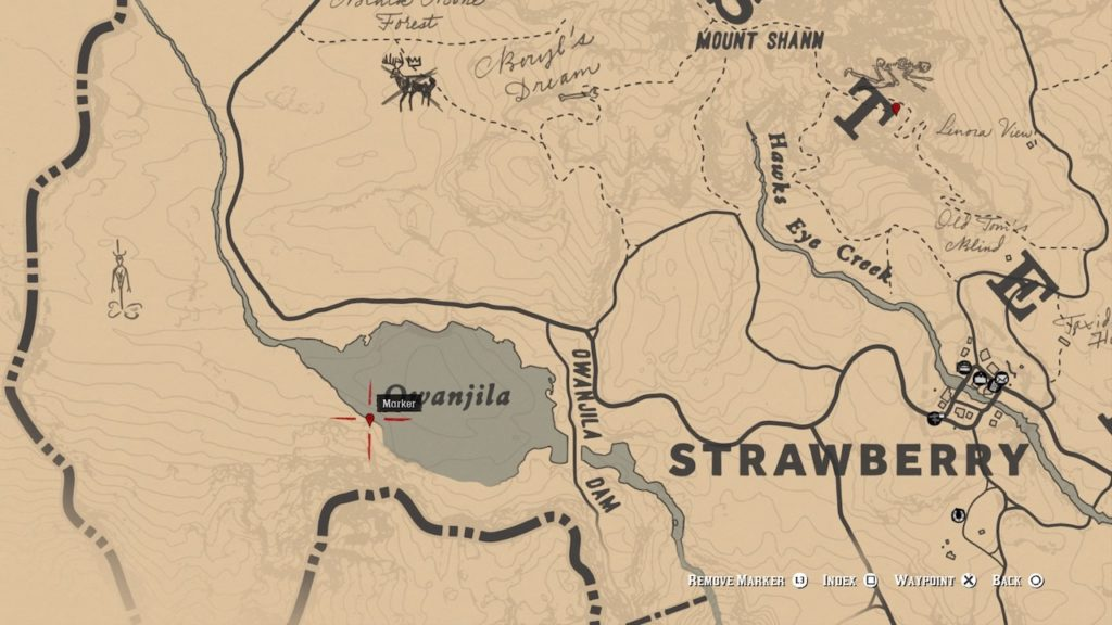 red dead 2 owanjila carving map