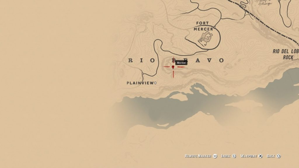 red dead 2 rio bravo mesa bone map