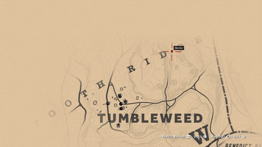 red dead 2 tumbleweed north bone map