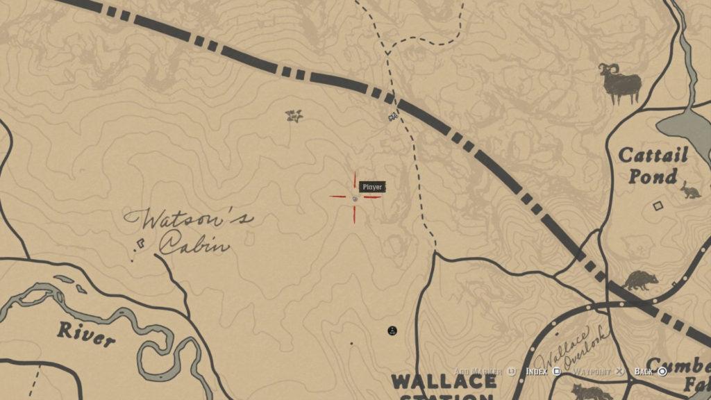 red dead 2 watson's cabin map