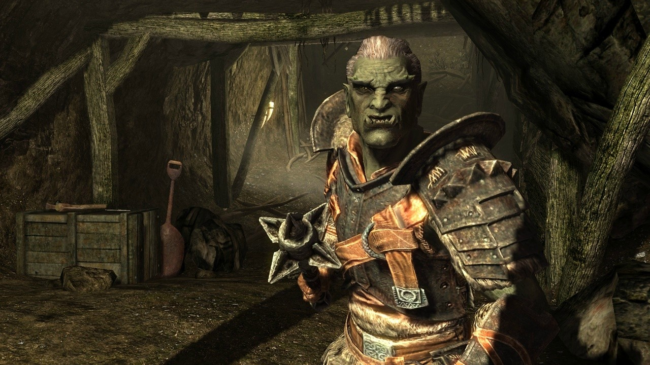Orcs in heavy armor are a fearsome sight