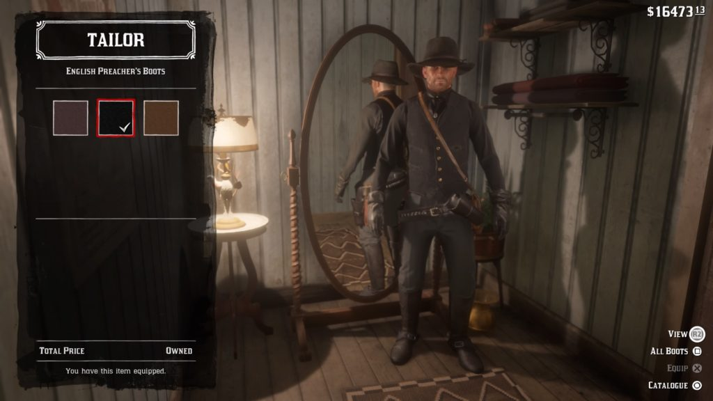 red dead 2 man in black