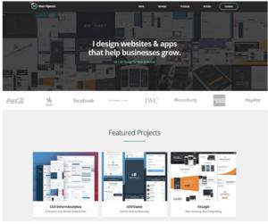 freelance portfolio page