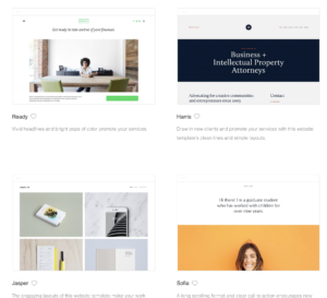 Squarespace example templates