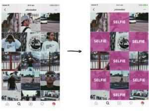 planning Instagram layout