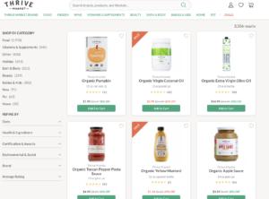 Thrive Market shopping