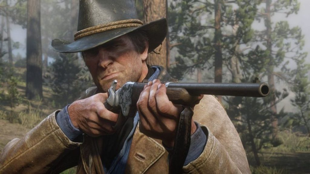 red dead 2 arthur rifle