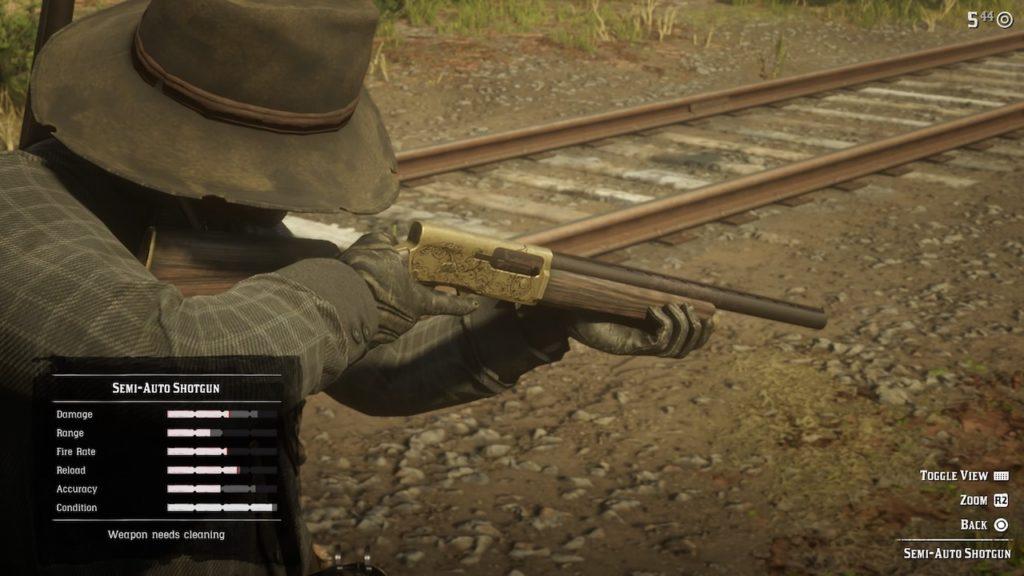 red dead 2 auto shotgun