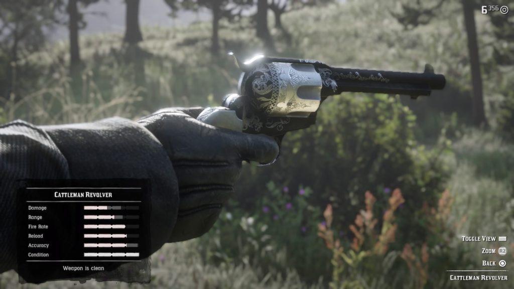red dead 2 cattleman revolver