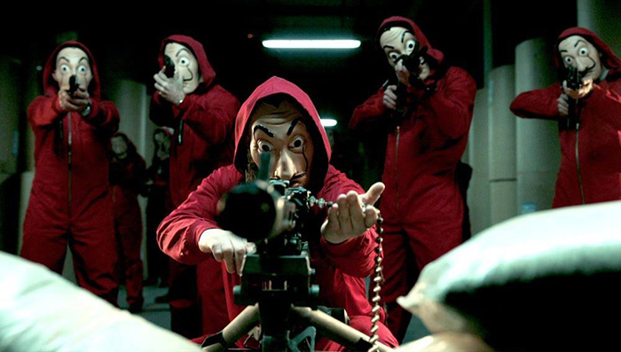 Netflix Money Heist guns