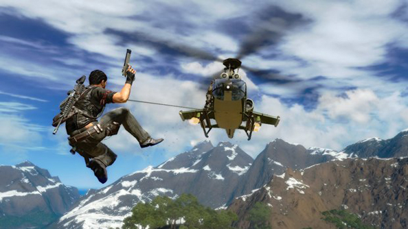 Just Cause's gadgets make navigating the world one of the most fun parts of the game