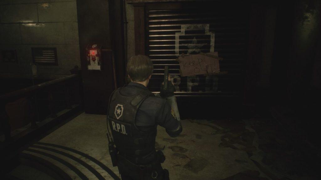 resident evil 2 main hall door