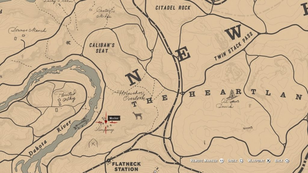 red dead 2 limpany map