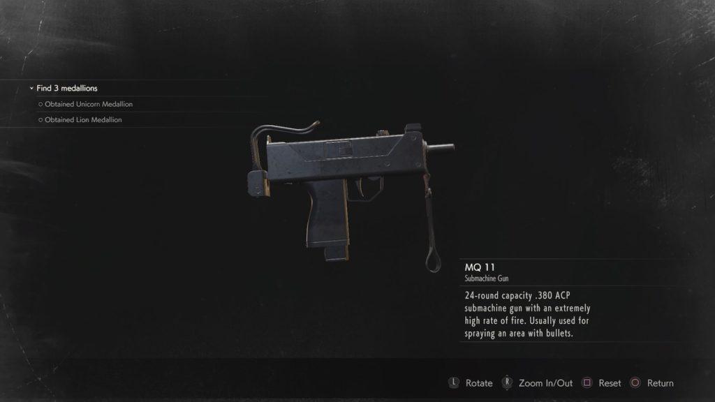 resident evil 2 mq-11 submachine gun