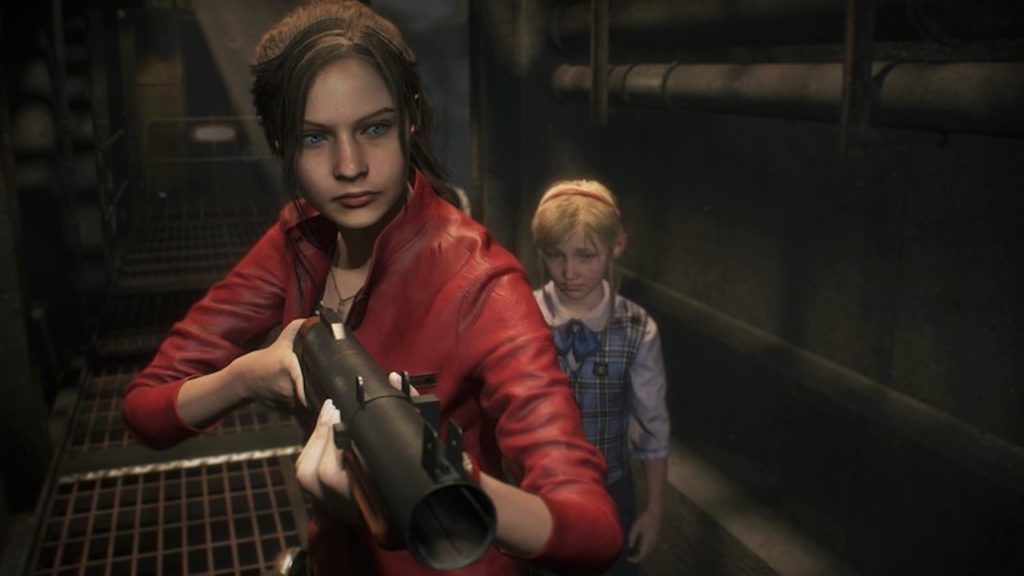 resident evil 2 claire redfield grenade launcher
