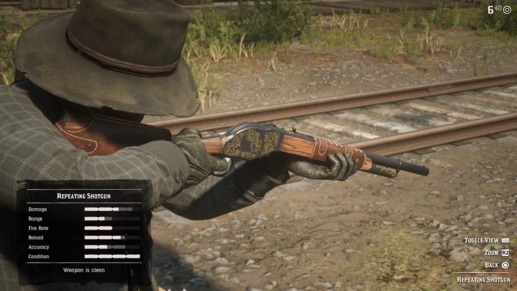 red dead 2 repeating shotgun