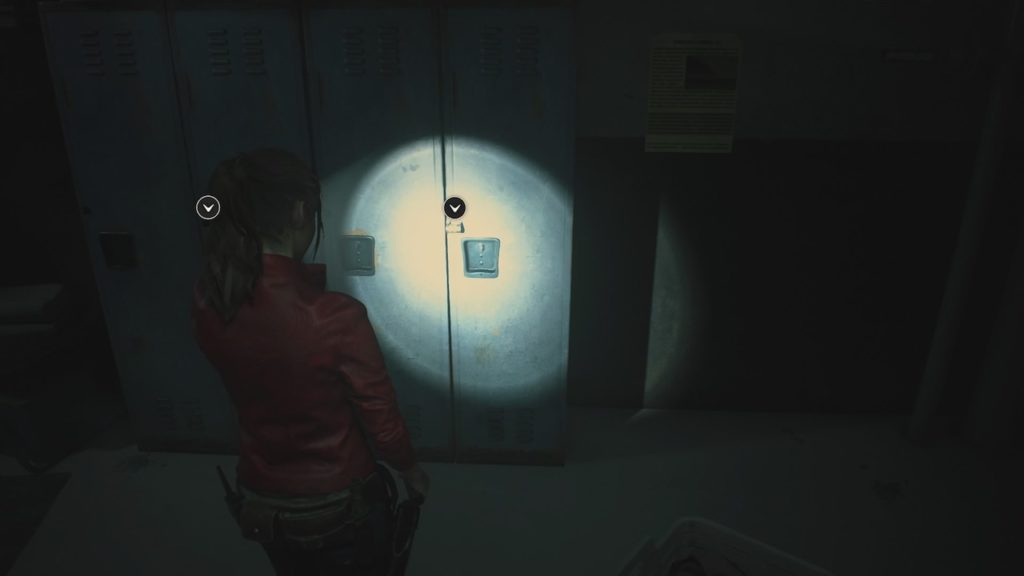 resident evil 2 shower room locker