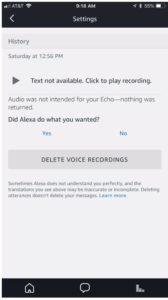 delete alexa recordings